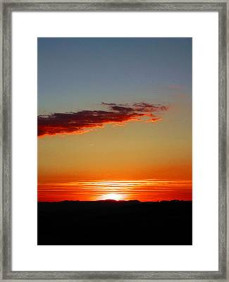 Sunset With Lines Framed Print by Dorothy Berry-Lound