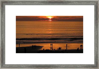 Sunset Worship Framed Print