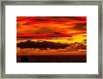 Sunset Wow2 Framed Print