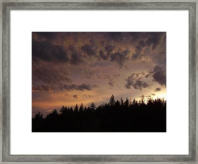 Sunset Framed Print by Yvette Pichette