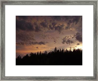 Sunset Framed Print by Yvette Pichette