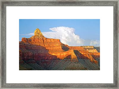 Sunset Zoroaster Temple Grand Canyon Framed Print