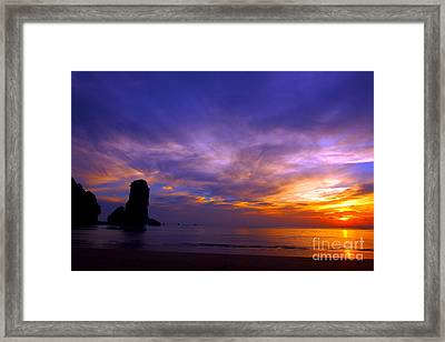 Sunsets And Beaches Framed Print by Kaleidoscopik Photography
