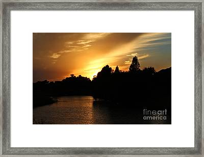 Sunsets And The Night Moving In Framed Print by Ella Kaye Dickey