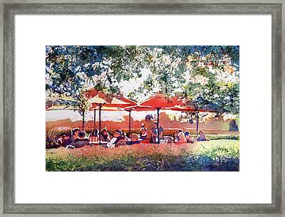 Sunsets And Wine Framed Print