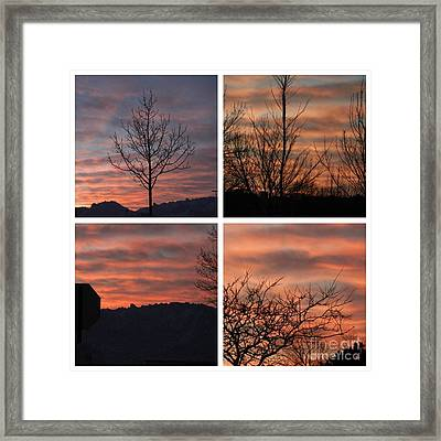 Sunsets Come In Many Colors  Framed Print