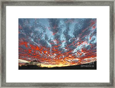 Sunset Colorado Country Style Framed Print