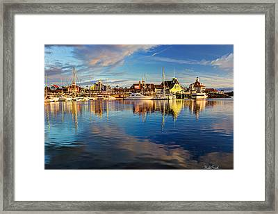 Sunset's Golden Light Framed Print by Heidi Smith