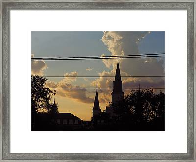 Sunsets In The French Quarter Framed Print by Sherry Dooley