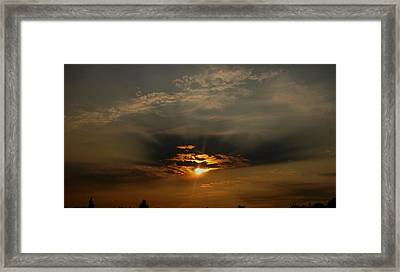 Sunsets On Empire Framed Print