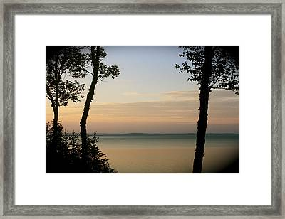 Sunsets On The Bay Of Fundy Framed Print