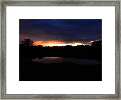 Sunsets Reflection Framed Print by Linda Brown