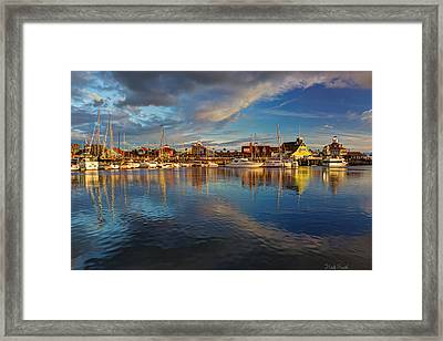 Sunset's Warm Glow Framed Print