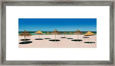 Sunshade Island Framed Print