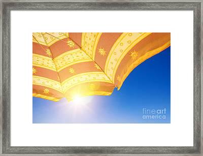 Sunshade Under Sun Framed Print