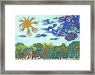 Sunshine After Thunderstorm Framed Print