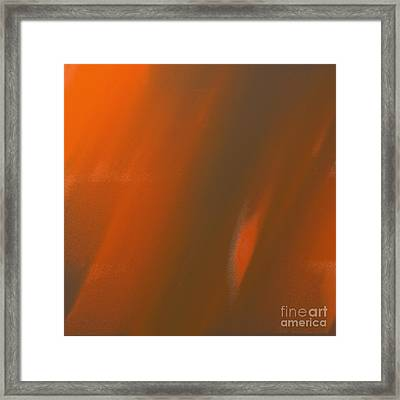 Sunshine And Rain Abstract Square Framed Print