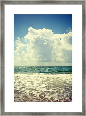 Sunshine And Rain Framed Print by Kelly Nowak