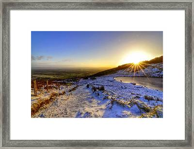 Sunshine And Snow Framed Print