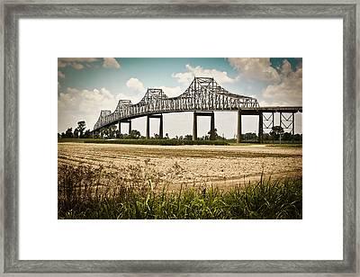 Sunshine Bridge Mississippi Bridge Framed Print