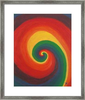 Framed Print featuring the painting Sunshine Daydream by Thomasina Durkay