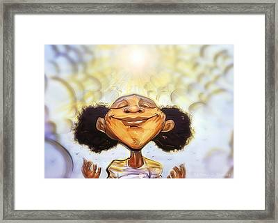 Sunshine Girl Framed Print