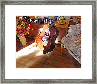 Sunshine Guitar Framed Print