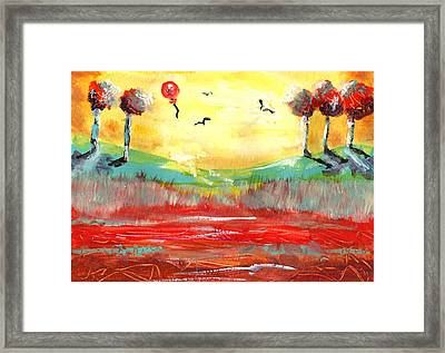 Sunshine Happiness Framed Print by Peg Holmes