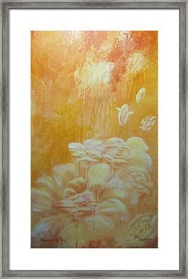 Sunshine In The Rain Framed Print by Lori Salisbury