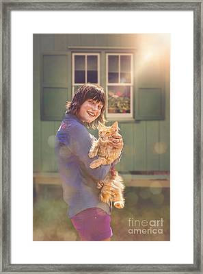 Sunshine Kitty 2 Framed Print by Danilo Piccioni