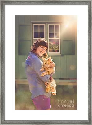 Sunshine Kitty Framed Print by Danilo Piccioni