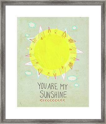 Sunshine Framed Print by Lisa Barbero
