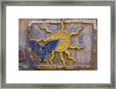 Sunshine Loving A Bluebird Framed Print by Omaste Witkowski