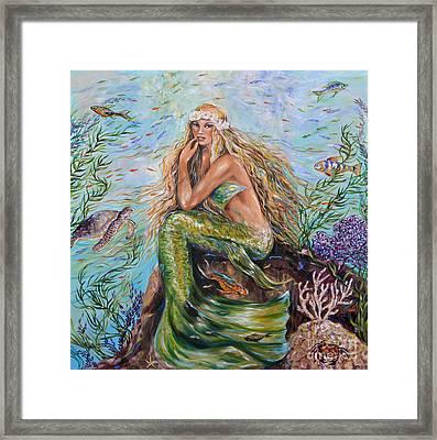 Sunshine Mermaid Square Framed Print