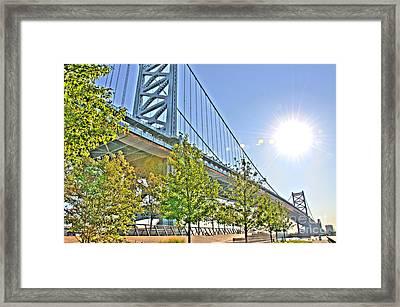 Sunshine Over Ben Franklin Framed Print