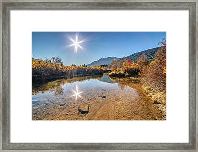 Sunshine Over River Of Golden Dreams Whistler Framed Print by Pierre Leclerc Photography