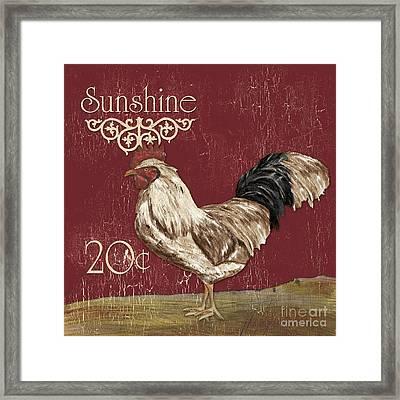 Sunshine Rooster Framed Print by Debbie DeWitt