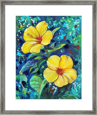 Sunshine Sisters Framed Print by Eve  Wheeler