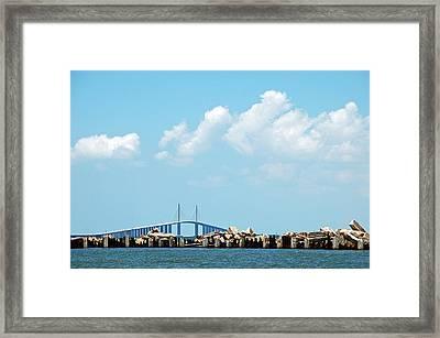 Sunshine Skyway Bridge Framed Print by Aimee L Maher Photography and Art Visit ALMGallerydotcom