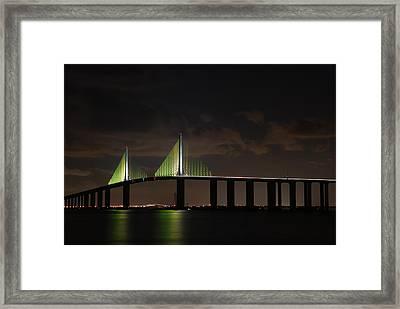 Sunshine Skyway Bridge Framed Print by Beverly Stapleton