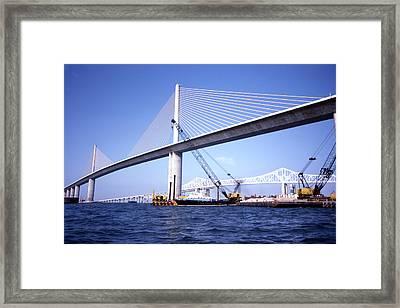 Sunshine Skyway Bridge Framed Print by Richard Rizzo