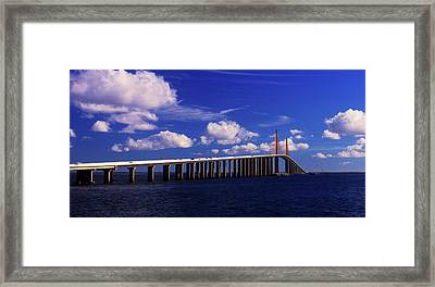Sunshine Skyway Bridge Spanning Tampa Framed Print