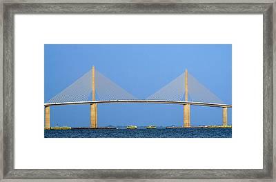 Sunshine Skyway Panorama Framed Print