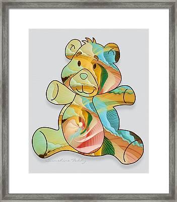 Sunshine Teddy Framed Print by Gayle Odsather