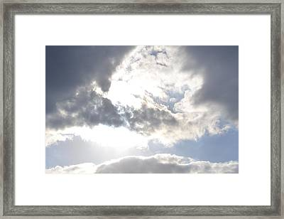 Framed Print featuring the photograph Sunshine Through The Clouds by Tara Potts