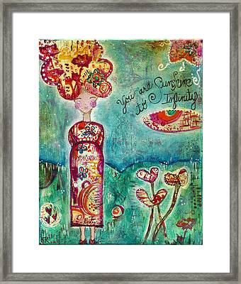 Sunshine To Infinity Framed Print