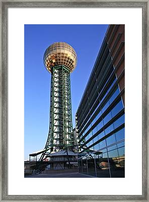 Sunsphere And Conference Center Framed Print by Melinda Fawver
