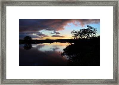 Sunsrise Over River Maine Framed Print by Barbara Walsh