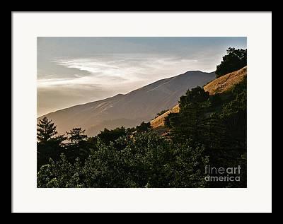 Vista Of Big Sur Framed Prints