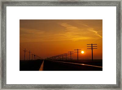 Sunup Framed Print by Tom Druin